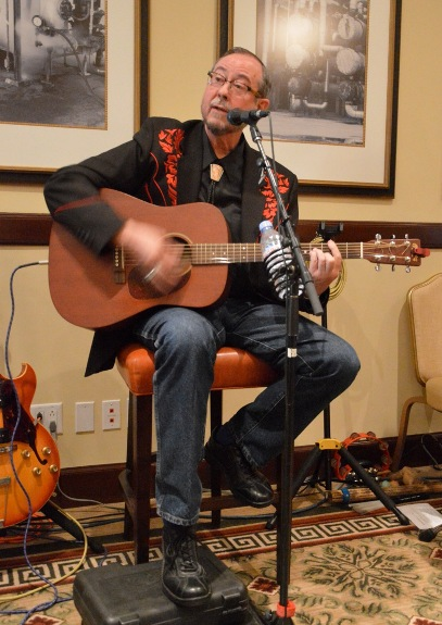 Jim Stricklan at Settles Hotel - photo by Rick Stricklan